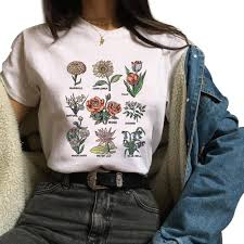 <b>Wildflower Graphic Tees Women</b> Floral Print T Shirt Women ...