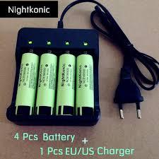 <b>Nightkonic</b> 4 <b>PCS</b>/<b>LOT</b> 18650 batterie 3.7 V Li-ion Rechargeable ...