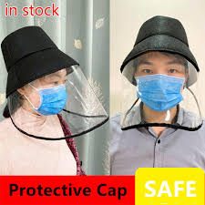 Women's <b>Multi</b>-<b>Functional Protective Cap</b> With Transparent Cover ...