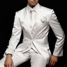 <b>White Wedding Mens Suit</b> for Groom Tuxedos 2019 Slim Fit Prom ...