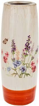 ваза декоративная arthouse луговые цветы 12 30 5 см