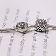 <b>Real S925 Silver</b> Twinkling Stones Beads Princess <b>Heart</b> Charm ...