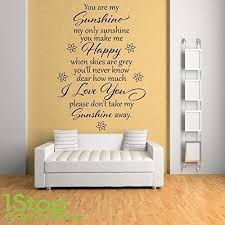 <b>You are my sunshine</b> my only sunshine wall art sticker Home ...