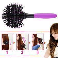 Round <b>360 Degree Ball Styling</b> Bomb Curl 3D Hair Brushes Make ...