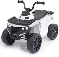 <b>Детский квадроцикл R1</b> на резиновых колесах 6V - 3201-WHITE
