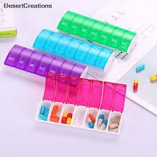 <b>1Pcs</b> New 7 Grids Medicine Box Plastic <b>Portable</b> Pill Case ...