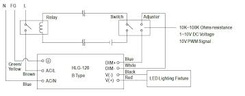 dimming the mean well hlg and lpf d led drivers adm meanwell hlg led driver relay diagram
