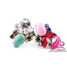 <b>New Design</b> Crystal Flower Three Figner Luxury Celebrity Style ...