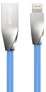 <b>Red Line</b> Smart High Speed USB, Blue <b>кабель</b> Lightning-USB (1 м)