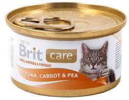 <b>Консервы Brit Care Cat</b> для кошек, с тунцом, морковью и горохом ...
