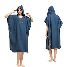 Hiturbo <b>Microfiber Surf</b> Beach <b>Wetsuit Changing Towel</b> Bath Robe ...