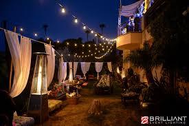 previous next backyard wedding lighting