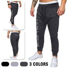 New <b>Autumn Men's</b> Cotton Trousers Slim-fit Sweatpants <b>Large Size</b> ...