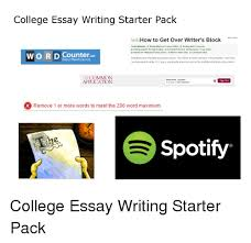 College essay writers block