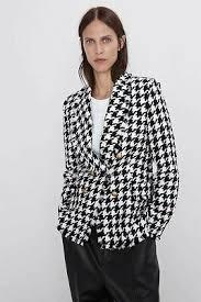 <b>Women Tweed</b> Jacket <b>Chic Plaid</b> Vintage Houndstooth Double ...