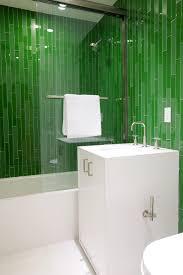 shower idea green tiles