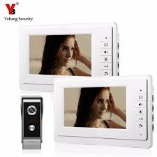 "YobangSecurity <b>Wired</b> Video Intercom <b>7</b>"" <b>Inch LCD</b> Video Door Bell ..."