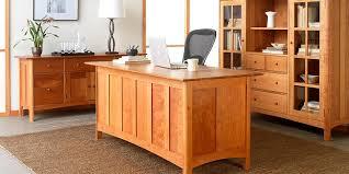 natural wood desks cherry wood home office