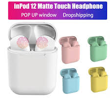Colorful <b>Inpods12 TWS TWS Earbuds</b> 5.0 Bluetooth <b>Earphones</b> ...