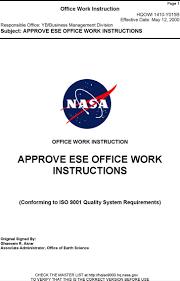 sample work instruction templates premium earth science enterprise office work instruction template