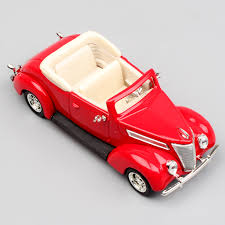 <b>1:43 Scale small</b> 1937 Ford V8 engine Convertible roadster Model ...