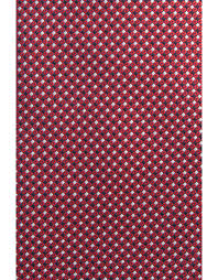 Red silk tie with <b>optical pattern</b> | Canali.com