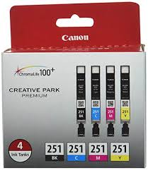 Canon CLI-251 BK/CMY 4PK (4-Color Pack), Black ... - Amazon.com