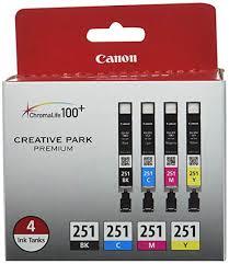 Canon CLI-251 BK/CMY 4PK (4-Color Pack), Black ... - Amazon.com