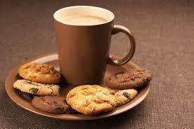 Resultat d'imatges de cafe con galletas fibra