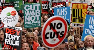 نتیجه تصویری برای تظاهرات ضد ریاضتی در لندن