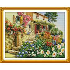 <b>Everlasting love Garden</b> Villa (2) Chinese cross stitch kits Ecological ...