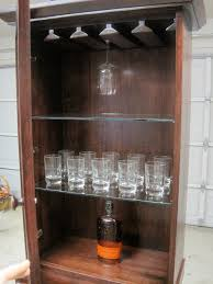 unique brown liquor cabinet ikea made of wood with glass shelving for home bar room furniture bar room furniture home