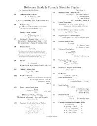 college physics formula sheet school tips physics college physics formula sheet