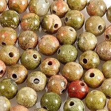Купить <b>Бусина унакит</b> ЮАР <b>шарик</b> 4-4,<b>5</b> мм (1 шт) Доставка по ...