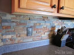 stone kitchen backsplash tutorial