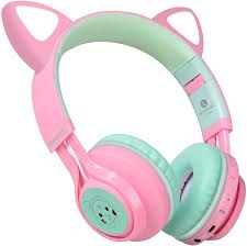 RUIMING Kids <b>Headphones Bluetooth</b> 5.0 Stereo <b>Cat Ear</b> ...