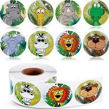 500 шт., милые <b>детские наклейки</b> в виде животных из ...