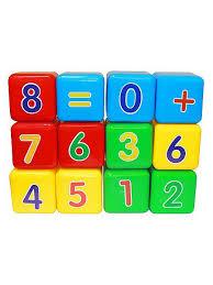 "Набор <b>кубиков</b> ""Первая математика"" (<b>кубик</b> 7х7 см) Пластмастер ..."