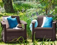 <b>Комплект мебели Keter</b> Corfu duo коричневый - серо-бежевый ...