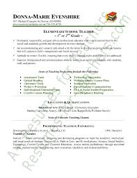 elementary teacher resume sample page 1 education in resume sample