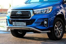 <b>Защита переднего</b> бампера на Toyota Hilux 2015-2016 Revo NEW