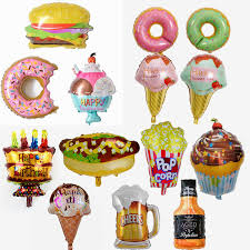 <b>2pcs big</b> Hamburg ice <b>cream</b> Popcorn cake donut food balloon ...