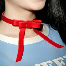 Online Shop Designer Luxury Leather Bow Necklaces For Women ...