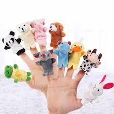 <b>5PCS Animal Finger Puppet</b> Plush Toys Puppets Hand Dolls Cute ...