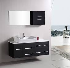 fascinating bathroom with modern bathroom vanity also white sink and stainless steel faucet amazing contemporary bathroom vanity
