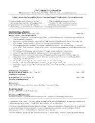 Customer Service Representative Objectives For Resume  job       resume for customer service