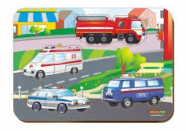 <b>Woodland</b> Дерев. 011405 <b>Вкладыш Спец</b>. автомобили | игрушки ...