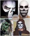 Раскраска лиц на хэллоуин фото