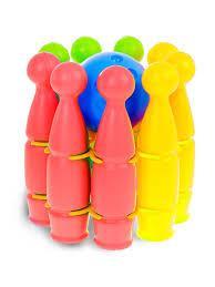 <b>Набор для боулинга</b> 9 кеглей + 1 шар , в паутинке, Colorplast