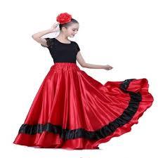 Spanish Flamenco Costume Belly Dancing Skirt Dance Costumes ...